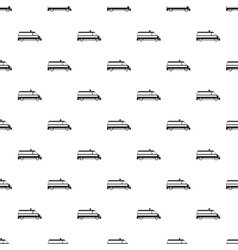 Ambulance car pattern simple style vector