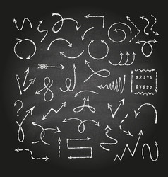 Arrows on black chalkboard vector