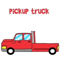 Art of red pickup vector