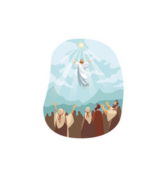 ascension jesus christ bible concept vector image