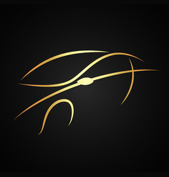 auto design gold color vector image