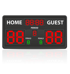 Basketball sports digital scoreboard vector
