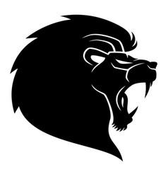 black lion sign vector image