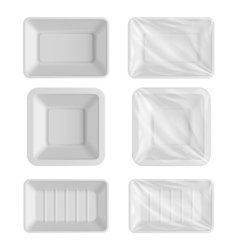 Blank packaging template mockup food container vector image