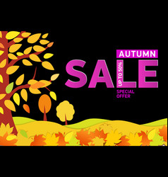 bright autumn banners with text - autumn sale up vector image