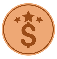 business stars bronze coin vector image