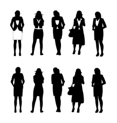 Business woman figure vector image