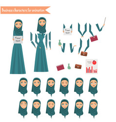 business woman for animation vector image