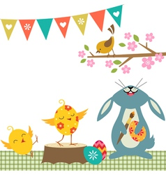 Cheerful Easter vector