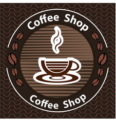 coffee logo - emblem set desi vector image