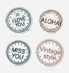 Collection of Premium Quality Labels vintage vector image