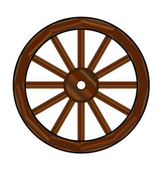 Covered wagon wheel vector
