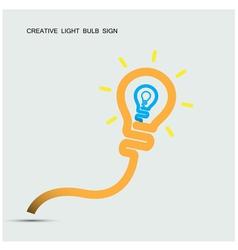 Creative light bulb symbol with turn on creativity vector