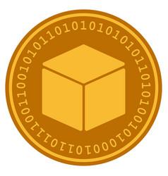 Cube digital coin vector