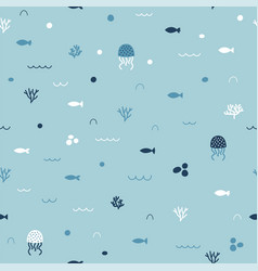 cute childish seamless pattern in cartoon style vector image