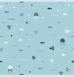 Cute childish seamless pattern in cartoon style vector