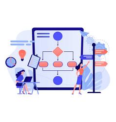 Decision management concept vector