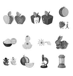 design transgenic and organic logo set vector image