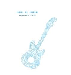 doodle circle water texture guitar music vector image