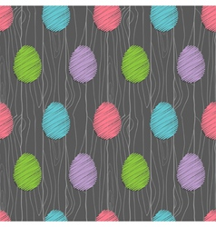 easter eggs pattern dark vector image