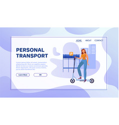 eco transport flat vector image