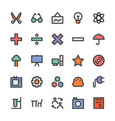 Education Black Outlined Icons 4 vector