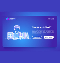 financial report accountant with calculator vector image