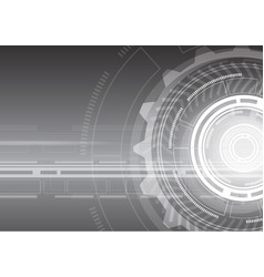 future virtual technology background vector image