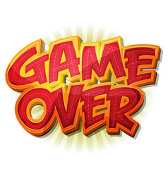 game over icon for ui game vector image