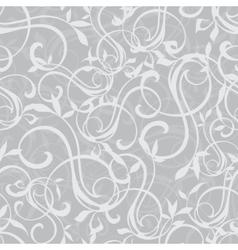 Gray Swirly Texture Seamless Pattern vector