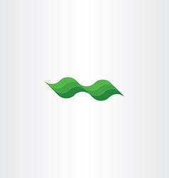 Green leaf eco wave design element vector