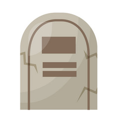 Halloween tomb isolated icon vector