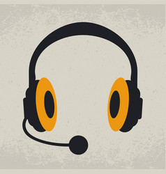 headphones listen and speak vector image