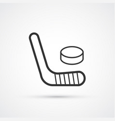 hockey black line icons eps10 vector image