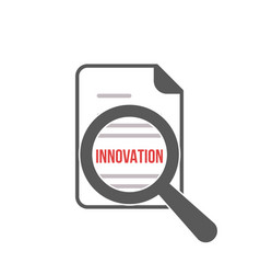 innovation word magnifying glass vector image