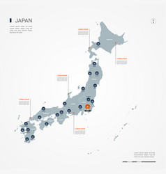 Japan infographic map vector