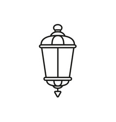 lamp old street icon vector image