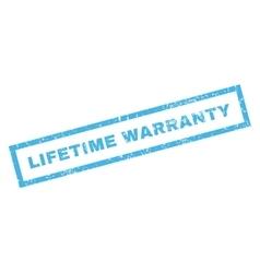 Lifetime Warranty Rubber Stamp vector