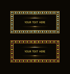 Luxury frame marquee vector