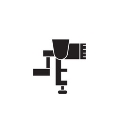 meat grinder black concept icon meat vector image