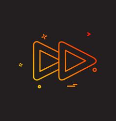 media icon design vector image