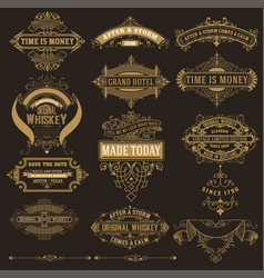 mega set banners and labels vector image