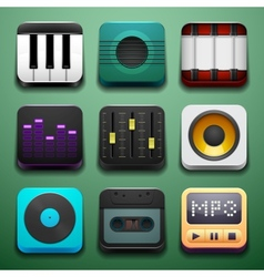 Music background for the app icons vector
