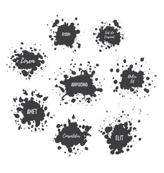 paint splat set vector image