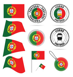 portugal flag in color design vector image vector image