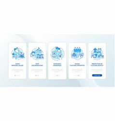 protect ethnic minority onboarding mobile app vector image