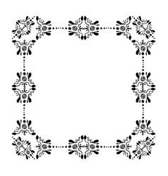 quadrangular decorative ornamental border with vector image