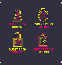 real-life room escape logo for quest room vector image
