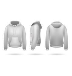 Realistic sweatshirt with hood vector