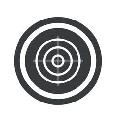 Round black aim sign vector